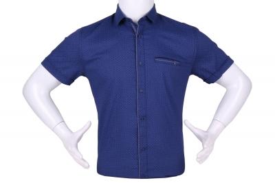 Рубашка мужская приталенная в мелкий рисунок, короткий рукав (Арт. T 4602К)