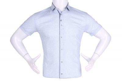 Рубашка мужская приталенная в мелкий рисунок, короткий рукав (Арт. T 4611К)