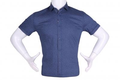 Рубашка мужская приталенная в мелкий рисунок, короткий рукав (Арт. T 4614К)