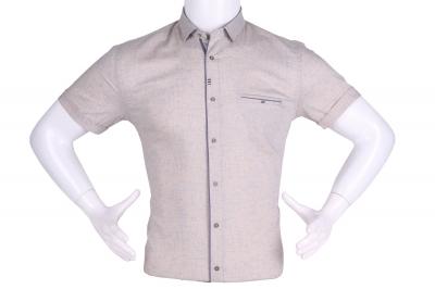 Рубашка мужская приталенная в мелкий рисунок, короткий рукав (Арт. T 4619К)