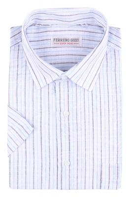 Рубашка мужская классика в полоску, короткий рукав (Арт. SDK 5359K)
