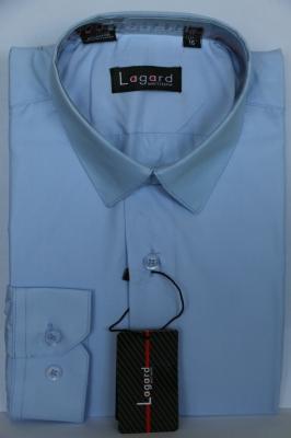 Детская однотонная голубая рубашка (Арт. B SKY 0926 S)