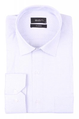 Рубашка мужская классика в мелкую клетку, длинный рукав (Арт. T 4646)