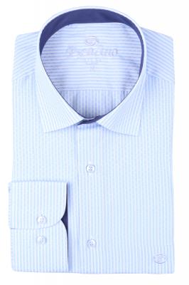 Рубашка мужская классика в полоску, длинный рукав (Арт. T 4657)