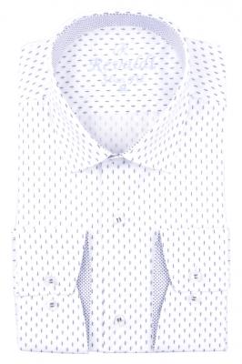 Рубашка мужская приталенная в мелкий рисунок, длинный рукав (Арт. T 4669)