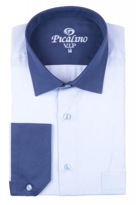 Рубашка мужская классика в мелкую полоску, длинный рукав (Арт. T 4680)