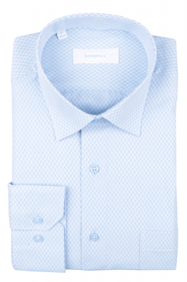 Рубашка мужская классика в клетку, длинный рукав (Арт. T 4682)