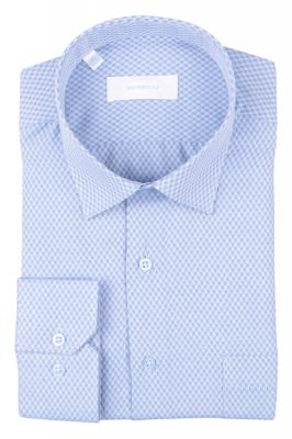 Рубашка мужская классика в клетку, длинный рукав (Арт. T 4683)