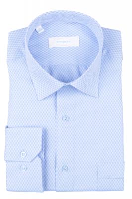 Рубашка мужская классика в клетку, длинный рукав (Арт. T 4685)