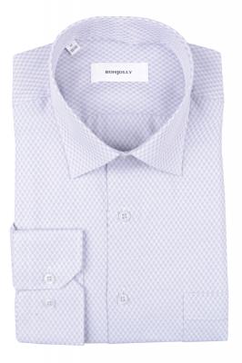 Рубашка мужская классика в клетку, длинный рукав (Арт. T 4686)