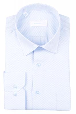 Рубашка мужская классика в клетку, длинный рукав (Арт. T 4688)