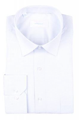 Рубашка мужская классика в мелкую клетку, длинный рукав (Арт. T 4690)