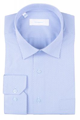 Рубашка мужская классика в мелкую клетку, длинный рукав (Арт. T 4691)