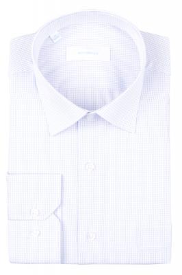 Рубашка мужская классика в мелкую клетку, длинный рукав (Арт. T 4692)