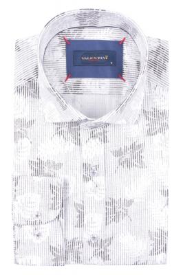 Рубашка мужская приталенная в рисунок, длинный рукав (Арт. T 4718)