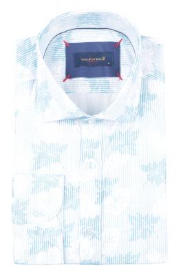 Рубашка мужская приталенная в рисунок, длинный рукав (Арт. T 4719)