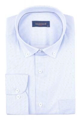 Рубашка мужская классика в мелкий рисунок, длинный рукав (Арт. T 4722)