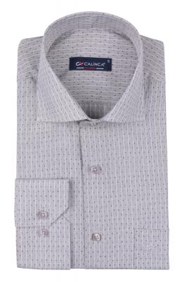 Рубашка мужская классика в полоску, длинный рукав (Арт. T 4742)
