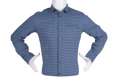 Рубашка мужская приталенная в клетку, длинный рукав (Арт. T 4798)