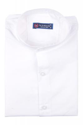 Детская однотонная рубашка с воротником стойка, длинный рукав (Арт. TB 4831)