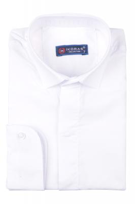 Детская однотонная рубашка, длинный рукав (Арт. TB 4833)