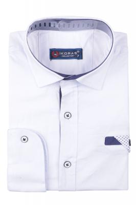 Детская однотонная рубашка, длинный рукав (Арт. TB 4835)