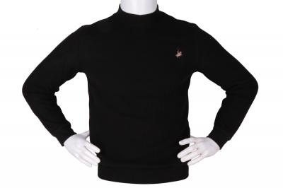 Мужской гольф чёрного цвета, утеплённый (Арт. SVR 4855)