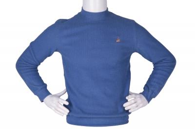 Мужской гольф синего цвета, утеплённый (Арт. SVR 4858)