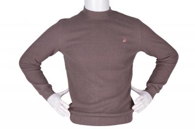 Мужской гольф серого цвета, утеплённый (Арт. SVR 4859)