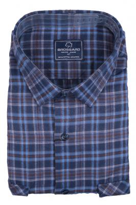 Рубашка мужская классика кашемир в клетку, длинный рукав (Арт. SDK 7949 B)