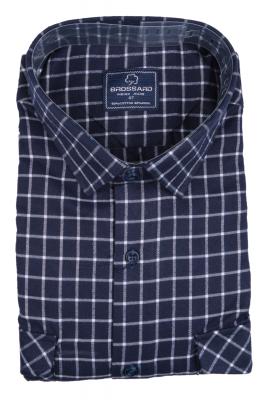 Рубашка мужская классика кашемир в клетку, длинный рукав (Арт. SDK 7950 B)