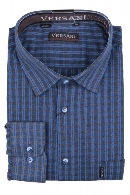 Рубашка мужская классика кашемир в клетку, длинный рукав (Арт. SKY 1793 B)
