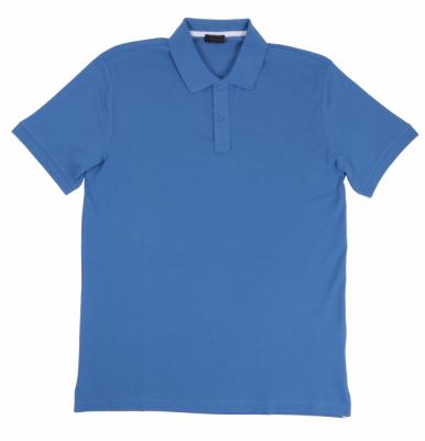 Футболка поло однотонная синяя (Арт. PO 4966)