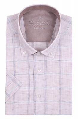Рубашка мужская, классика в клетку короткий рукав (Арт. T 5064К)