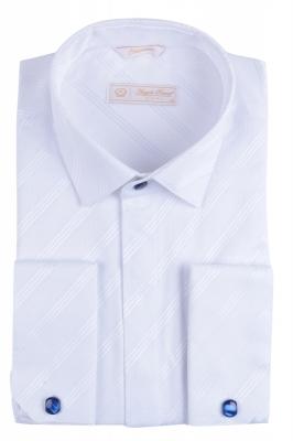 Angelo Roma Рубашка мужская жаккард цвет белый (Арт. Т 5375)