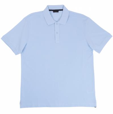 Футболка поло однотонная голубая (Арт. PO 4964)