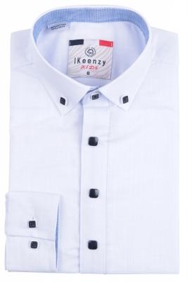 IKeenzy Рубашка для мальчика цвет белый (Арт. B 7498)