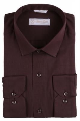 Angelo Roma Рубашка мужская жаккард цвет бордовый (Арт. Т 5371)
