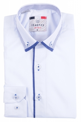 IKeenzy Рубашка для мальчика цвет белый (Арт. B 1301)