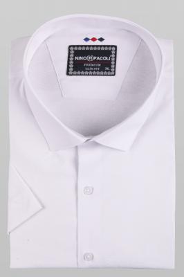 Мужская стильная однотонная рубашка, короткий рукав (Арт. T 5279ВК)