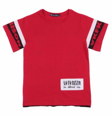Футболка детская красная с принтом (Арт. DFO4873)