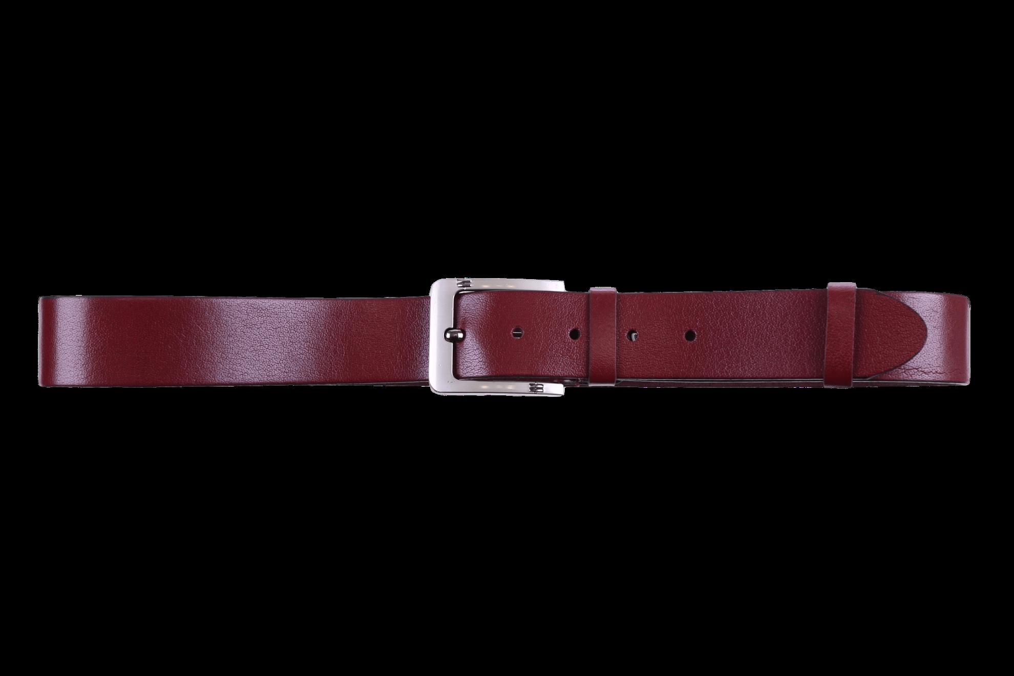 Мужской кожаный коричневый ремень (Арт. REM-05)