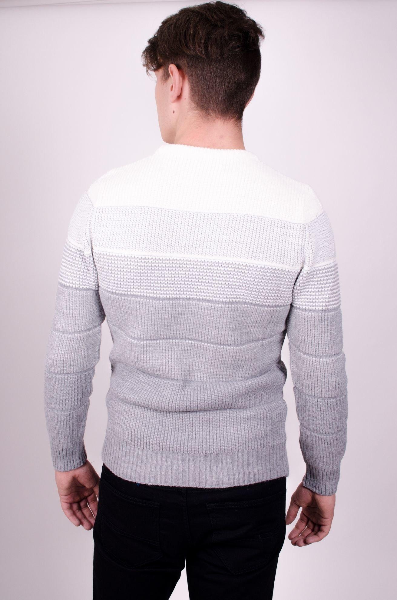 Мужской свитер с круглым вырезом  (Арт. POS 1855)