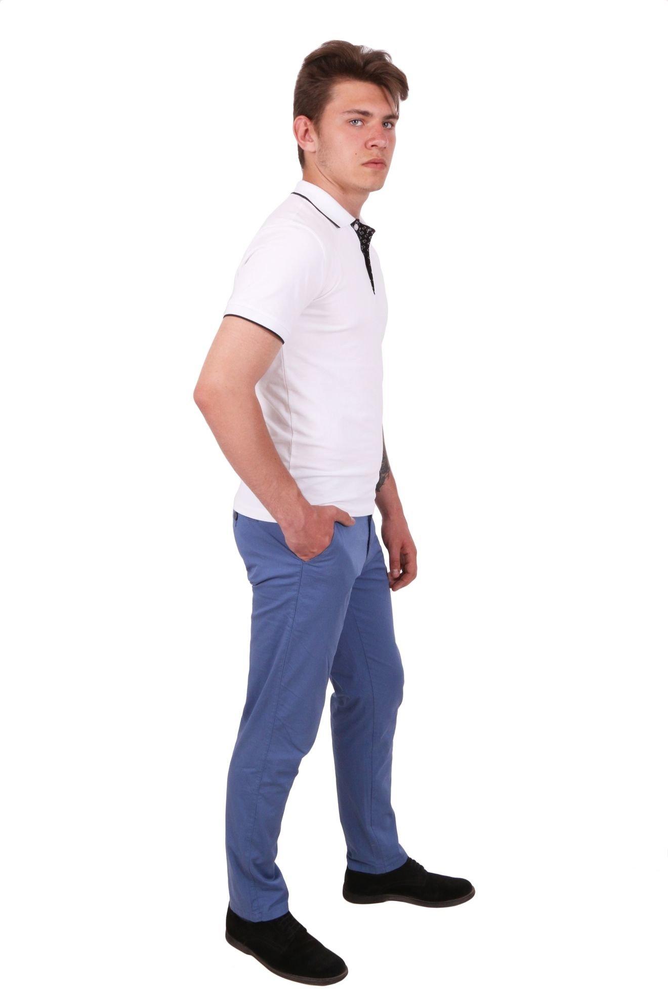 Брюки хлопковые светло-синие  (Арт. JEANS 0051)