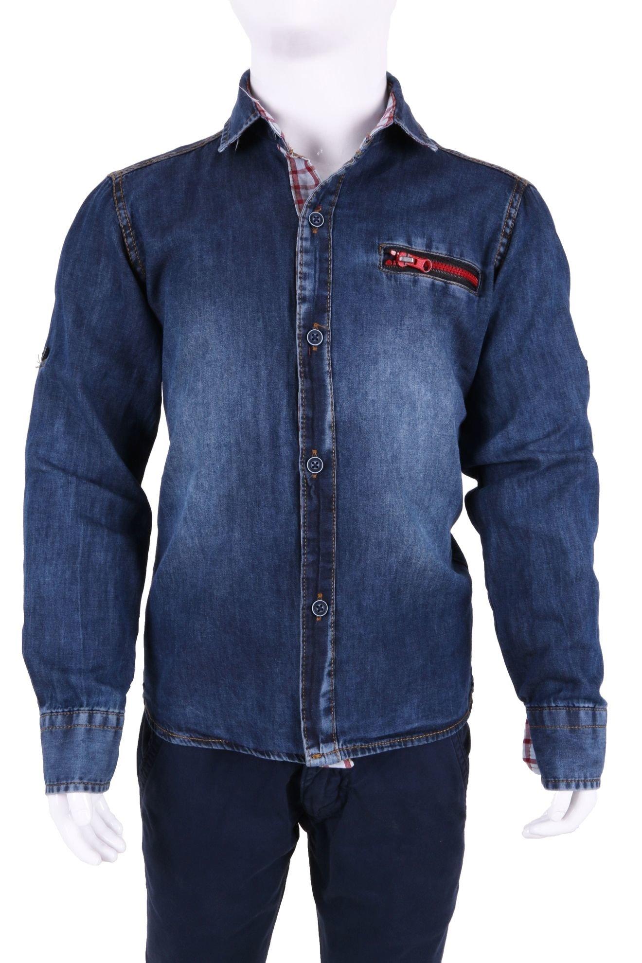 Детская джинсовая рубашка (Арт. ТВ 2207)