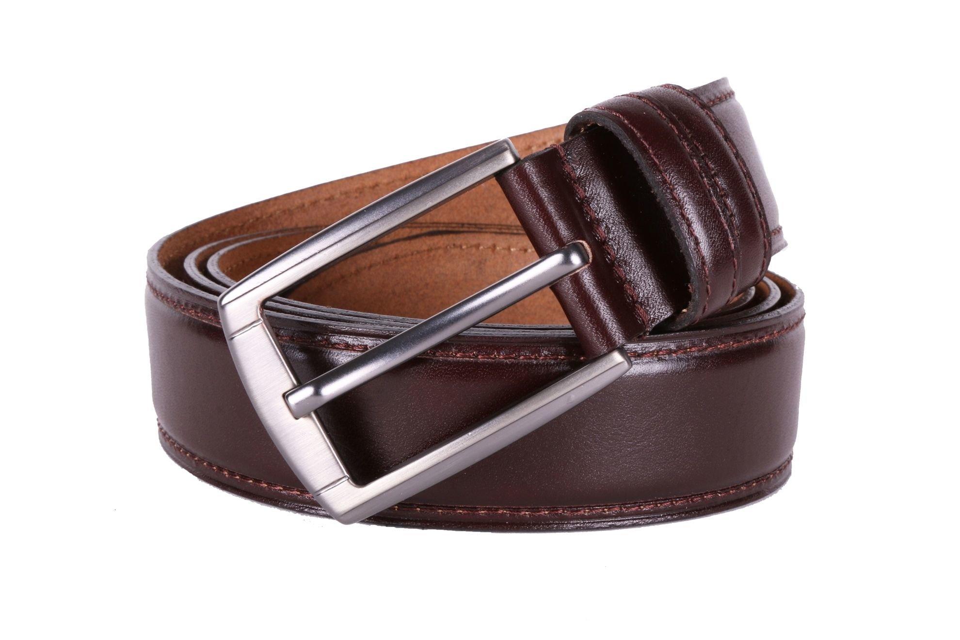 Мужской кожаный ремень  (Арт. REM-37)