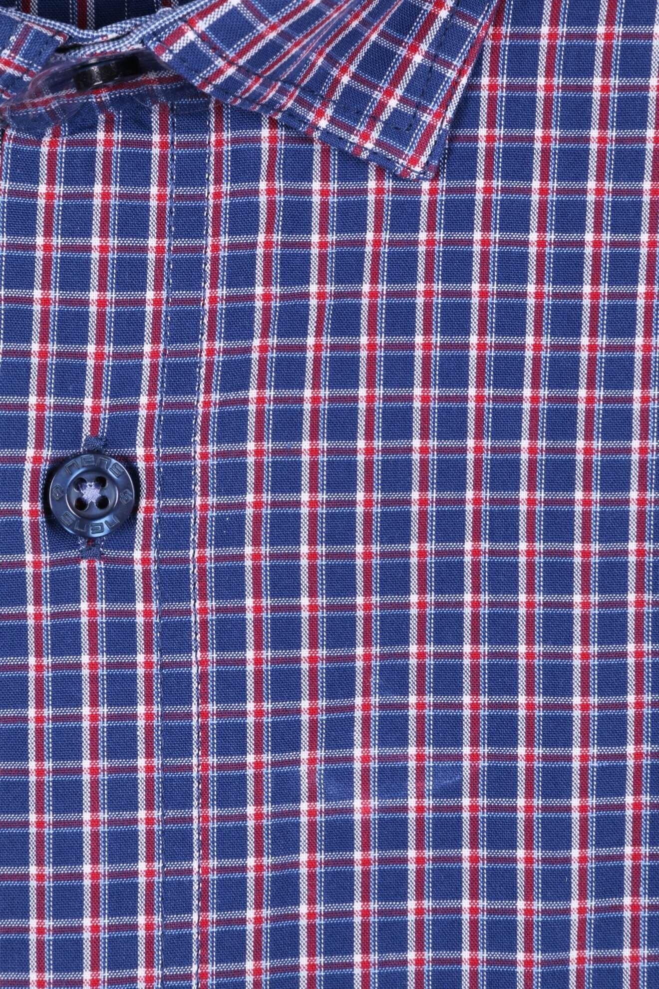 Клетчатая рубашка с коротким рукавом (Арт. T 2317K)