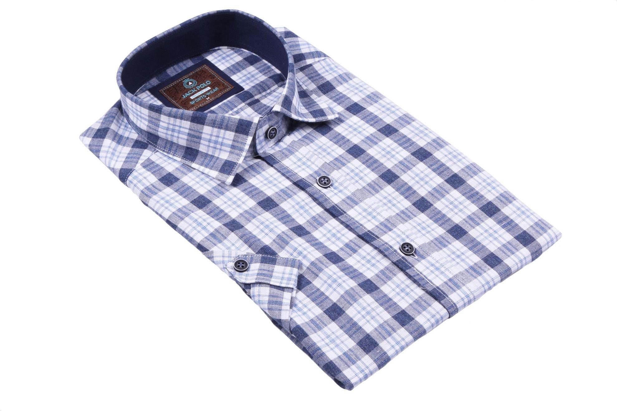 Классическая рубашка в клетку с коротким рукавом (Арт. T 2331K)
