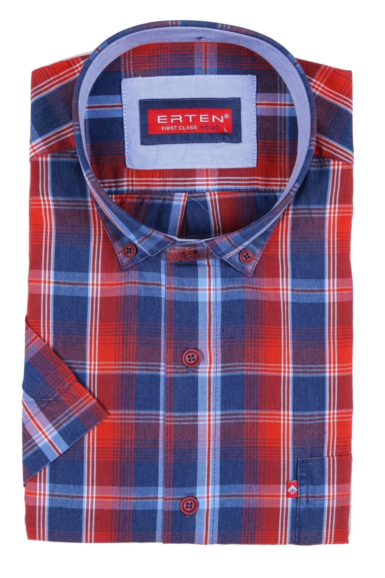 Рубашка в клетку с коротким рукавом (Арт. T 2379K)