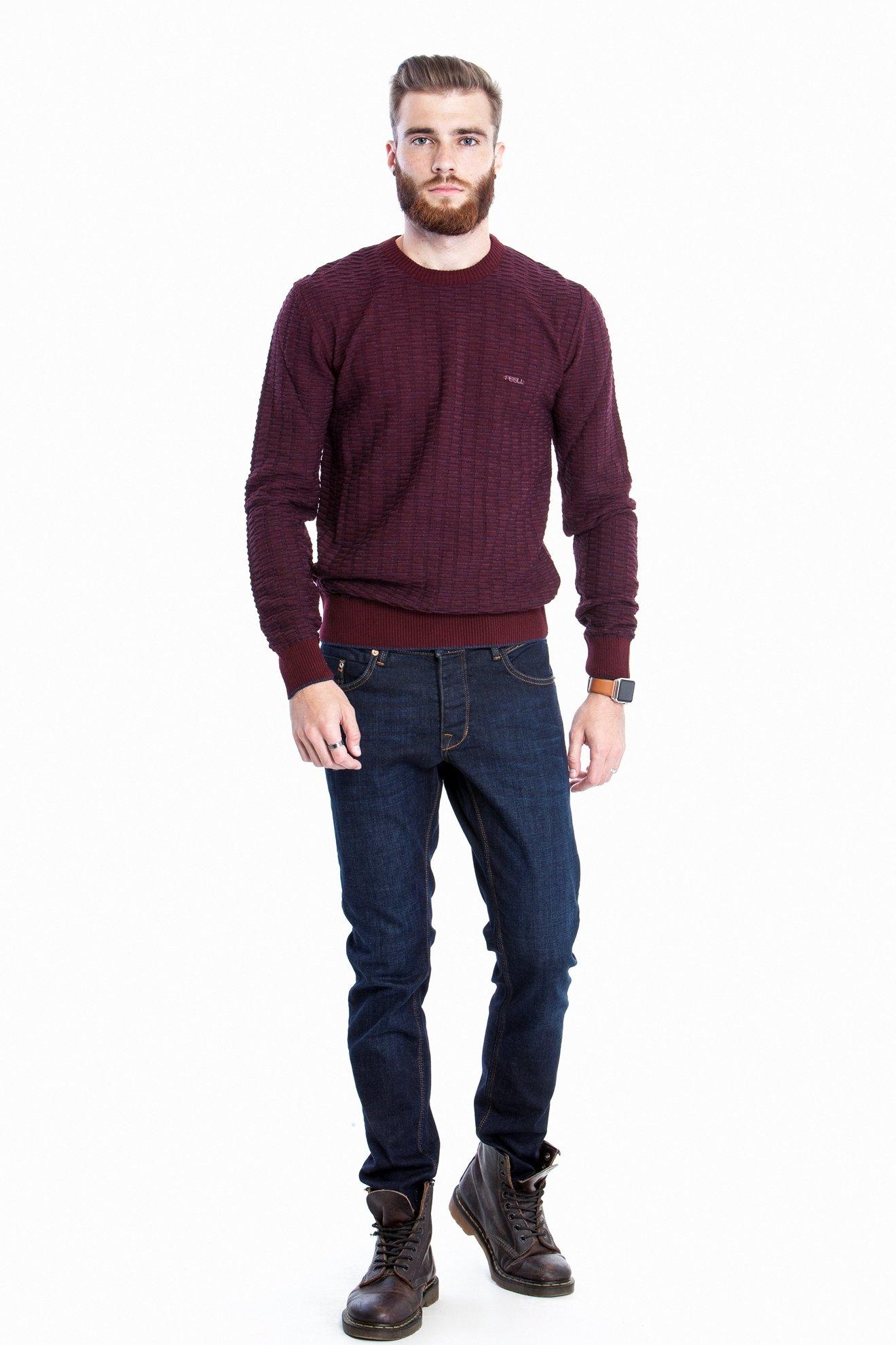 Мужской бордовый свитер (Арт. POS 2704)
